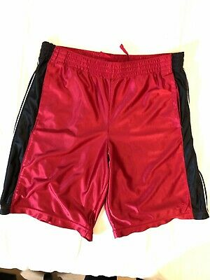 Mens Champion Basketball Shorts Red Black and White Stripped Size Medium Champion White Basketball Shorts