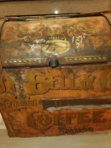 JH Bell Antique Coffee Bin