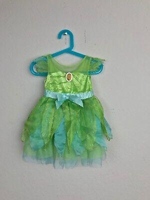Peter Pan Costume Girl (Disney Girl Dress Costume Sz S Tinker Bell Peter Pan Lined Short Sleeve)