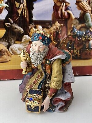 "Kirkland Signature Porcelain Nativity Hand painted Wiseman 5"" From Set 18366"