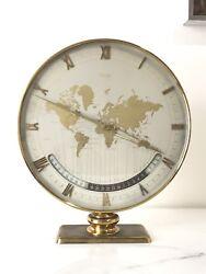 Mid Century Large Kienzle Global Desk Or Gable Clock Circa 1960