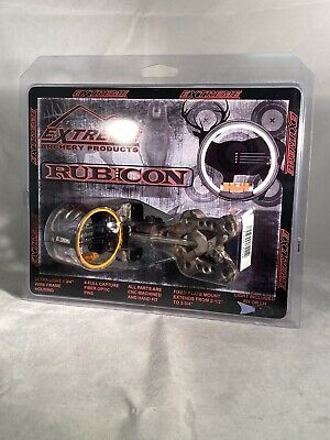 Extreme Archery Products Rubicon 4 Pin Lighted Bow Sight  NIB Camo Soooo -