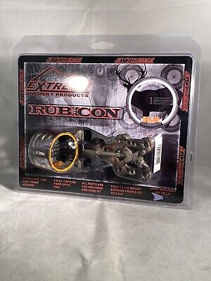 Extreme Archery Products Rubicon 4 Pin Lighted Bow Sight  NIB Camo Soooo Nice Bow Sight Camo