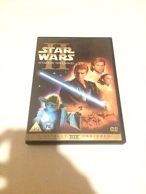 STAR WARS II: ATTACK OF THE CLONES - DVD - LIKE NEW