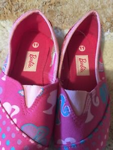 Girls Barbie Shoes Size 11