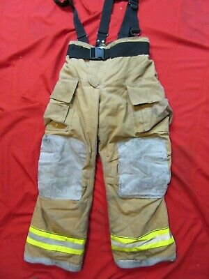 Mfg. 2011 Globe Gxtreme 36 X 32 Firefighter Turnout Bunker Pants Suspenders