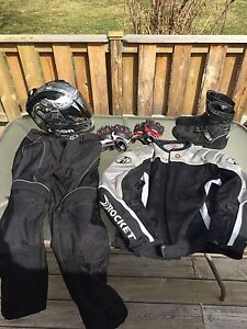 Joe Rocket Motorcycle gear: Jacket, pants, helmet, gloves