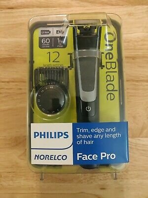 PHILIPS NORELCO ONEBLADE ONE BLADE FACE PRO Hybrid Electric Trimmer Shaver NEW