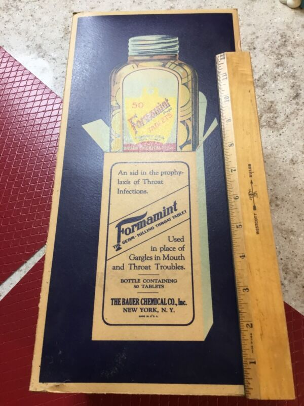Vintage Advertising Display Box Formamint Tablets Dentistry