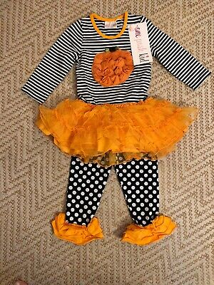 One Posh Kid Boutique Halloween Baby Girl Outift 24m NWT