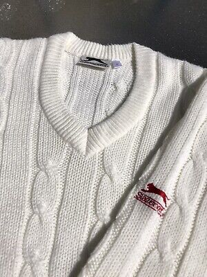 Men's Jumper Sweater Size Medium Slazenger Cricket Sports