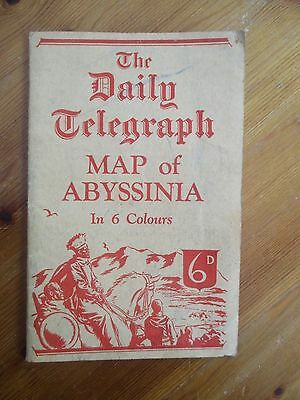 Vintage 1930s Daily Telegraph Map Abyssinia - George Philip & Son