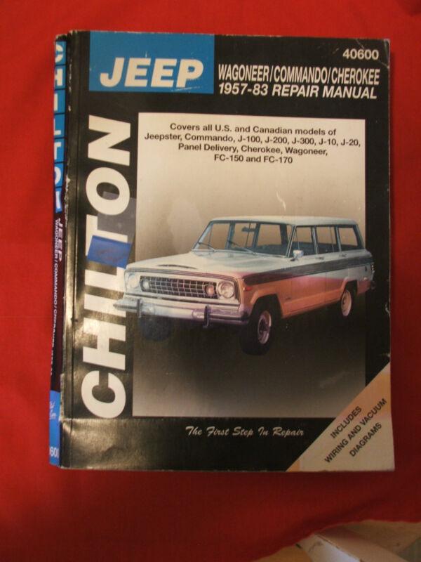 CHILTON REPAIR MANUAL~ Jeep 1957-1983 Fair Condition