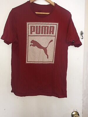 Red Mens Puma T-Shirt Size Large