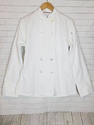 Uncommon Threads Chef Uniform Coat Long Sleeve Button Down White Unisex Size Xs