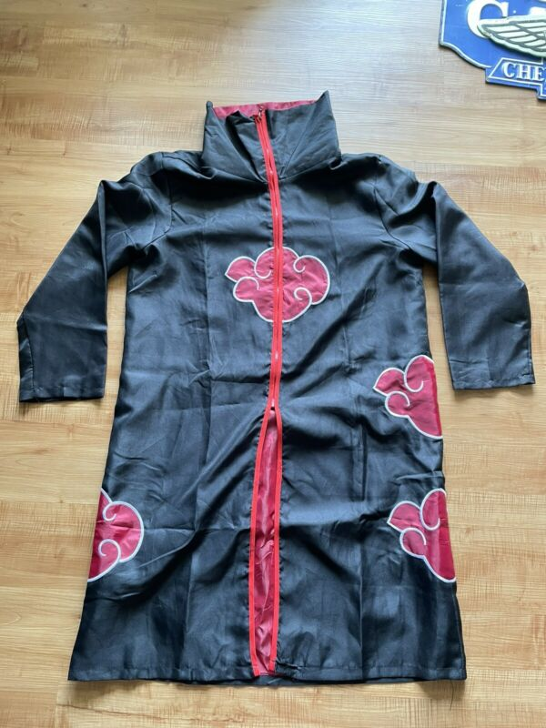 Naruto Akatsuki Uchiha Itachi Costume Robe Cloak Cape for Cosplay Size: Large