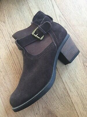 Brown Suede Boots Size Uk 4 Eu 37 By Shuropody Brand New Chelsea (Preppy Brands Uk)