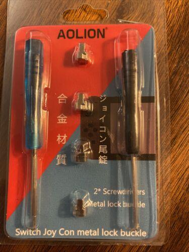 4PCS Metal Lock Buckles Latch 2 Screwdrivers For Nintendo Switch Joy Con US - $0.99