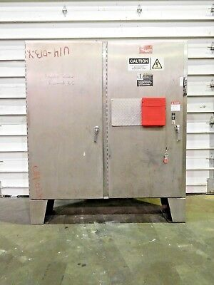 Rx-4207 Stainless Two Door Electrical Control Cabinet. 74 X 87. 304ss.