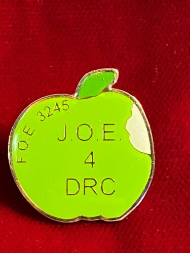 "Apple Shape Joe For DRC FOE 3245 Eagles Clovis New Mexico Epoxy Tie Lapel Pin 1"""