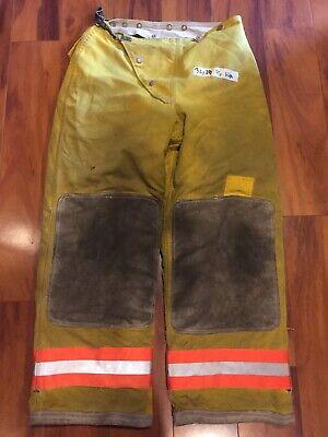 Firefighter Turnout Bunker Pants Globe 32x28 Orange Trim 1996 Vintage Costume