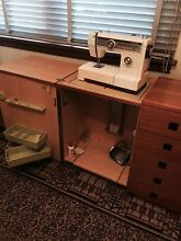 Janome sewing machine with solid wooden Horn sewing cabinet Beecroft Hornsby Area Preview