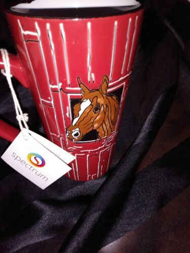 Horse Head In Red Barn Mug