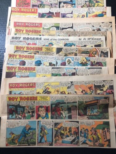 1950's Roy Rogers [Lot of 10] Sunday Weekly Comics