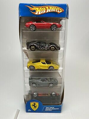 2004 HOT WHEELS FERRARI 5 CAR GIFT PACK VHTF 365 GTB/4 P4 Enzo F50 333 SP Error