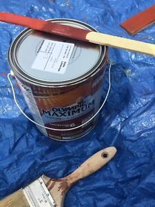 Olympic redwood paint - 5 gallons