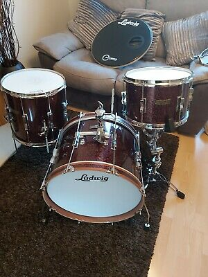 Ludwig Club Date SE  Downbeat Ruby Sparkle 3PC  SHELLPACK