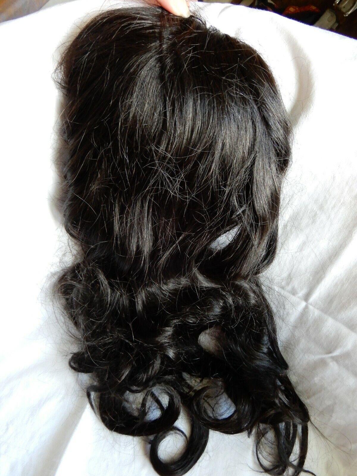 14cm Durchmesse Damen Toupet 100% Echthaar Topper Haarteil Toupee Wig Extensions