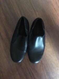 Balera Black split soul tap shoes