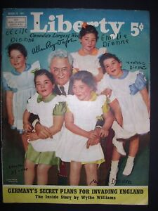 Liberty  March 29th 1941 Magazine, Dionne Quintuplets