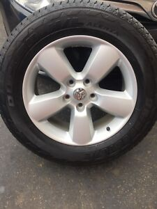 rim tires package chrome oem wheels tire rims clad factory and shop inch dodge ram