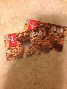 PC gift cards $75