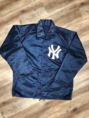 NEW YORK YANKEES MLB BASEBALL VINTAGE 80s FELCO SNAP UP SATIN JACKET LARGE