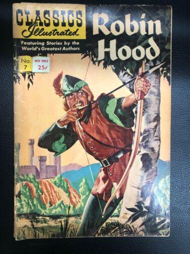 CLASSICS ILLUSTRATED #7 Robin Hood (HRN 167) G/VG