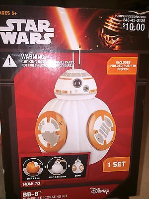 Star Wars BB-8 Droid Halloween Pumpkin Push In Decorating Kit No Carve New](No Carve Halloween Pumpkin Decorating)