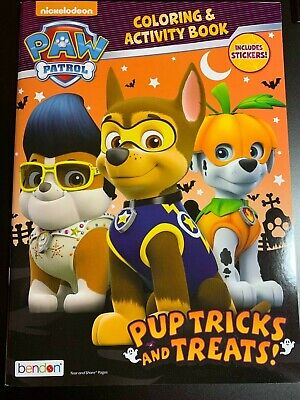 HALLOWEEN PAW PATROL COLORING & ACTIVITY BOOK PUP TRICKS AND TREATS!