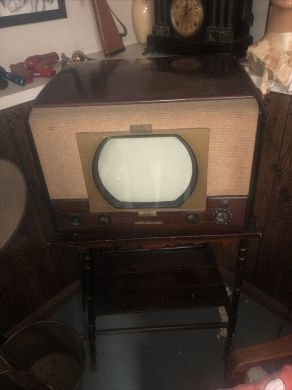 Vintage RCA Victor Television with Stand