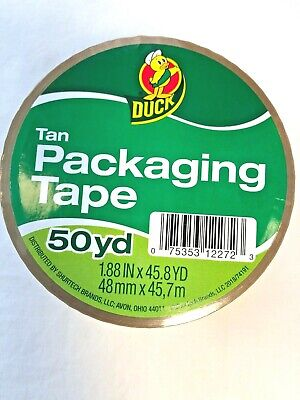 1 Roll Tan Duck Packaging Tape For Packing Shipping 1.88 X 45.8 Yds Unopened