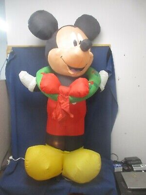 Gemmy Disney CHRISTMAS MICKEY MOUSE INFLATABLE Santa Hat Airblown 5.5' Tall!
