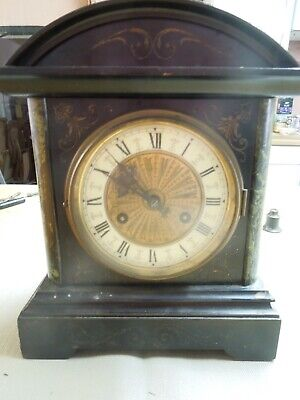 J Unghans Edwardian antique Mantle/Bracket Clock