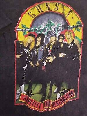 Vintage 1980's GUNS & ROSES T Shirt Large welcome to the Jungle