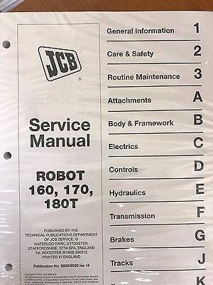 Jcb Robot 160 170 180t Skid Steer Service Manual Shop