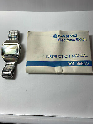 VINTAGE 70's SANYO 901 SERIES MEN'S L.C.D CHRONOGRAPH WATCH NOS
