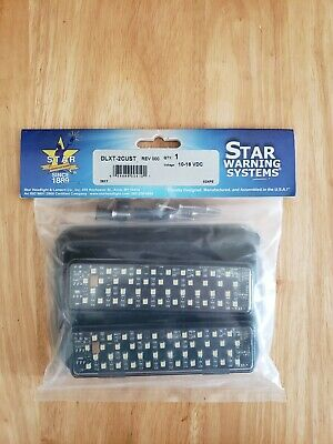 New Star Warning Systems Led Grille Surface Mount Light Double Head All White