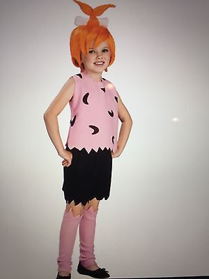 The Flintstones Pebbles Costume Medium HALLOWEEN NEW size 4-6 for 3-4 year old - Halloween Costumes 3 Year Old