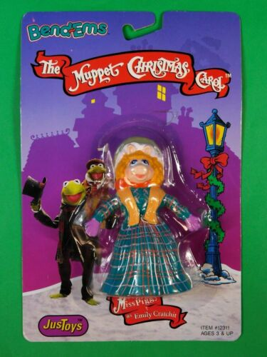 MUPPETS CHRISTMAS CAROL MISS PIGGY FIGURE BENDEMS 1992